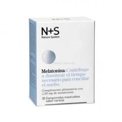 NS MELATONINA 1.95 MG 30 COMPRIMIDOS MASTICABLES