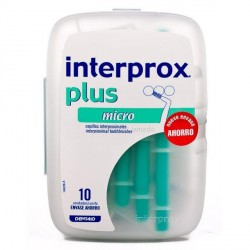 CEPILLO DENTAL INTERPROXIMAL INTERPROX PLUS MICRO ENVASE AHORRO 10 U